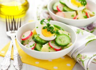 Wiosenne sałatki na wielkanocny stół